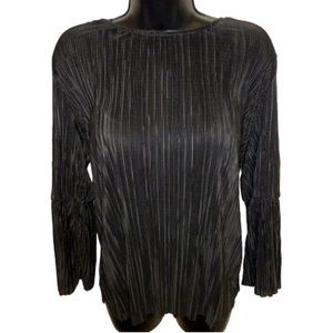 Vince Camuto Black Classy Flared Blouse